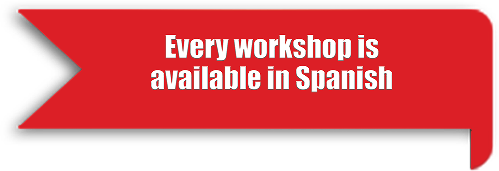 Every workshop available in Spanish